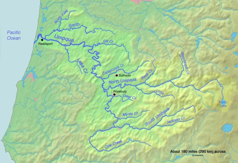 Umpqua River System Map